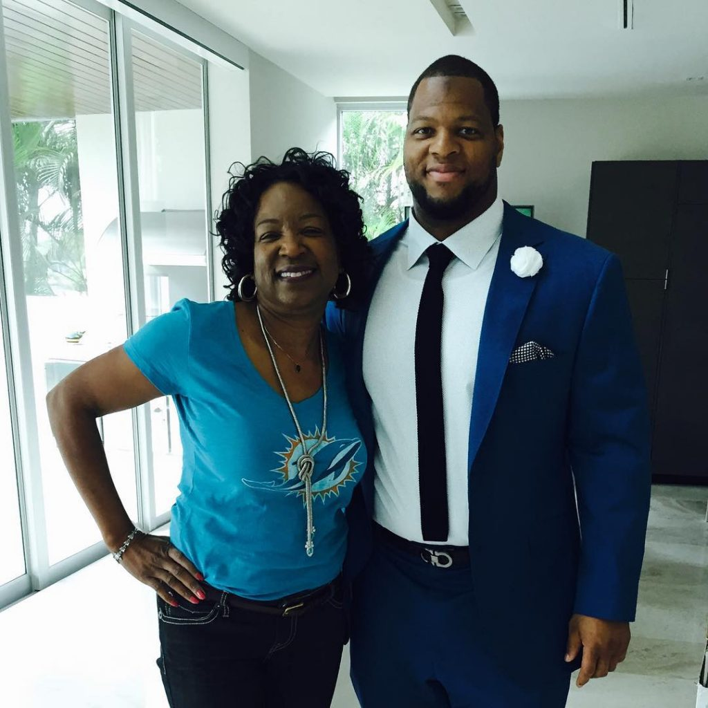 #tbt 1st Dolphins home game w/ Mama Suh. Saturday Aug. 29th, 2015
