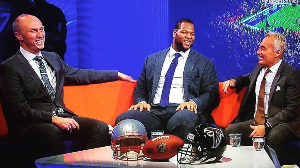 All smiles on Sky for #Superbowl LI yesterday