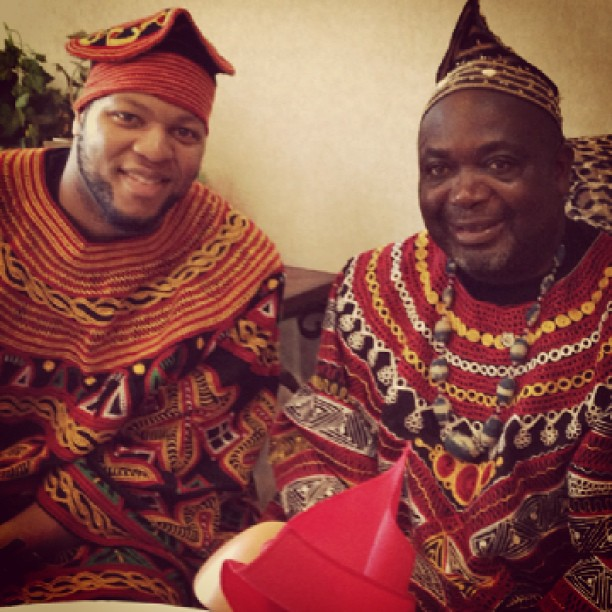 His royal highness Fon Fozoh II of Awing Bamenda Cameroon and Myself #ROOTS #HomeSUHweetHome #PDX