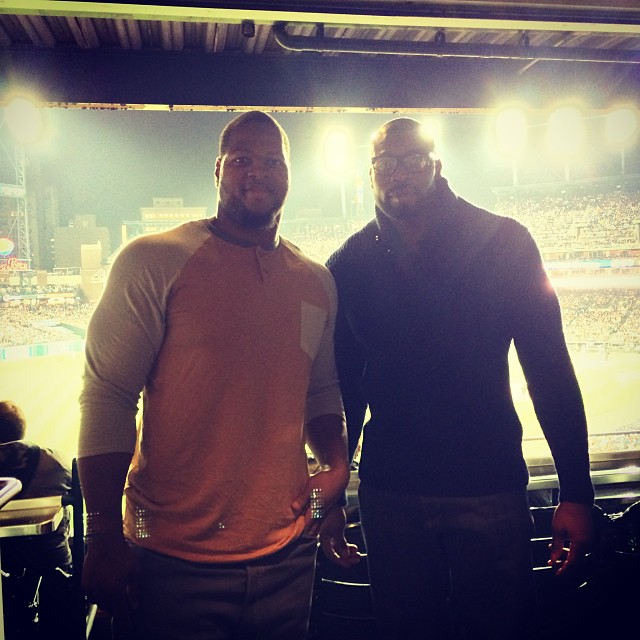 Chillin with my boy @iidonije at the @Tigers game!  #ALCS #Comerica #Detroit